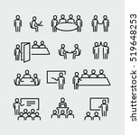 conference meeting vector icons | Shutterstock .eps vector #519648253