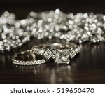 wedding rings with bokeh | Shutterstock . vector #519650470
