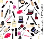 makeup  perfume  cosmetics... | Shutterstock .eps vector #519650893