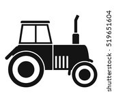 tractor icon. simple... | Shutterstock .eps vector #519651604