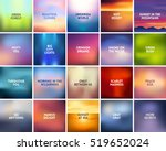 big set of 20 square blurred... | Shutterstock .eps vector #519652024