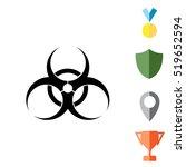 biohazard symbol. vector sign... | Shutterstock .eps vector #519652594