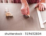 close up. hands woman tailor... | Shutterstock . vector #519652834