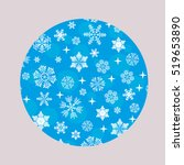 snowflakes in circle. vector... | Shutterstock .eps vector #519653890
