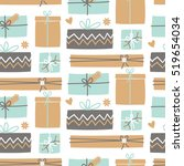 seamless repeat pattern with... | Shutterstock .eps vector #519654034