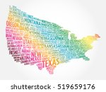 usa map word cloud collage with ... | Shutterstock .eps vector #519659176