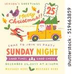 merry christmas card in vector. ...   Shutterstock .eps vector #519663859
