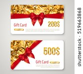 gift card with golden foil... | Shutterstock .eps vector #519663868