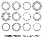 vector set of floral elements... | Shutterstock .eps vector #519664690