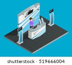exibition stand isometric with... | Shutterstock .eps vector #519666004