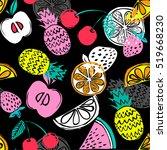 fashion girlish funny... | Shutterstock .eps vector #519668230