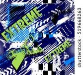 abstract seamless grunge... | Shutterstock .eps vector #519668263