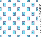 ringing phone pattern. cartoon... | Shutterstock .eps vector #519668956
