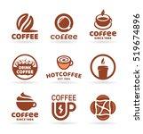 set of nine vector labels ... | Shutterstock .eps vector #519674896
