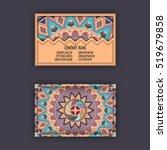 vector vintage visiting card... | Shutterstock .eps vector #519679858
