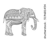 indian elephant in traditional... | Shutterstock .eps vector #519681454