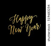 gold happy new year greeting... | Shutterstock .eps vector #519683254