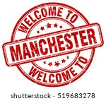 welcome to manchester. stamp. | Shutterstock .eps vector #519683278
