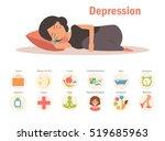 depression   reatment. vector.... | Shutterstock .eps vector #519685963