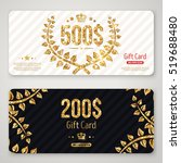 gift card layout template with...   Shutterstock .eps vector #519688480