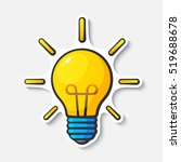 vector illustration. light bulb ... | Shutterstock .eps vector #519688678