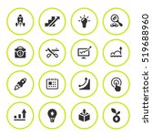 set round icons of start up | Shutterstock .eps vector #519688960