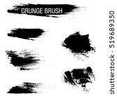 vector set of grunge brush... | Shutterstock .eps vector #519689350