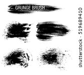 vector set of grunge brush... | Shutterstock .eps vector #519689410