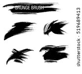 vector set of grunge brush... | Shutterstock .eps vector #519689413