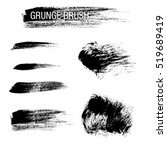 vector set of grunge brush... | Shutterstock .eps vector #519689419