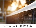 tennis net with bokeh nature in ... | Shutterstock . vector #519692134