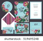 set of templates  for wedding... | Shutterstock .eps vector #519695248