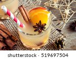 hot toddy drink  apple orange... | Shutterstock . vector #519697504