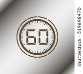 electronic timer 60 seconds. | Shutterstock .eps vector #519698470