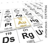 periodic table of elements ... | Shutterstock . vector #51970966