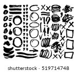 vector ink and paint textures... | Shutterstock .eps vector #519714748