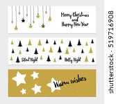 merry christmas greeting banner ... | Shutterstock .eps vector #519716908