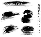 vector set of grunge brush... | Shutterstock .eps vector #519720289