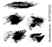 vector set of grunge brush... | Shutterstock .eps vector #519720310