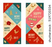 christmas and new year banners  ... | Shutterstock .eps vector #519720334