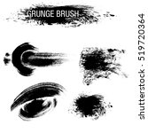 vector set of grunge brush... | Shutterstock .eps vector #519720364