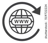 website icon vector flat design ... | Shutterstock .eps vector #519722224