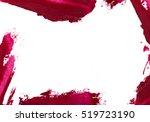 red colour lipstick stroke... | Shutterstock . vector #519723190