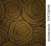 lovely monochrome rose flowers... | Shutterstock .eps vector #519728548