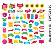 web stickers  banners and... | Shutterstock .eps vector #519729610