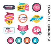 sale stickers  online shopping. ... | Shutterstock .eps vector #519729868