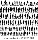 large collection of silhouettes ... | Shutterstock .eps vector #519731284