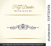 new calligraphic page divider... | Shutterstock .eps vector #519732436