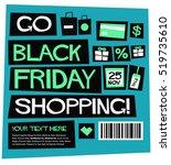 go black friday shopping   flat ...   Shutterstock .eps vector #519735610