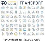 set vector line icons in flat... | Shutterstock .eps vector #519737293